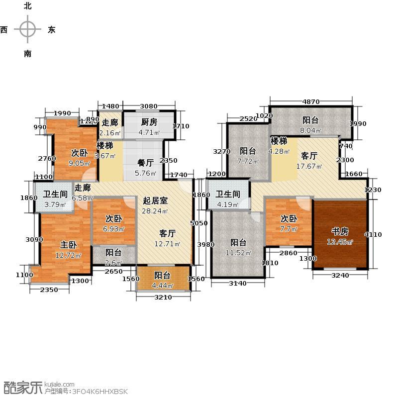 锦云商业中心户型5室1厅2卫1厨