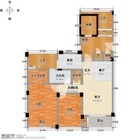 绿城玉兰花园2室0厅1卫1厨105.04㎡户型图