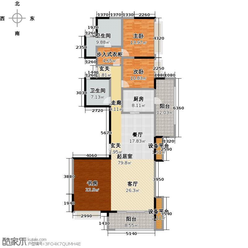 天祥广场176.25㎡L3户型3室3厅2卫