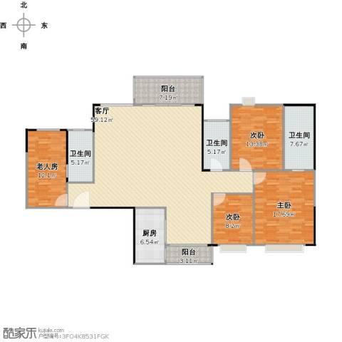 金沙世纪城4室1厅3卫1厨194.00㎡户型图