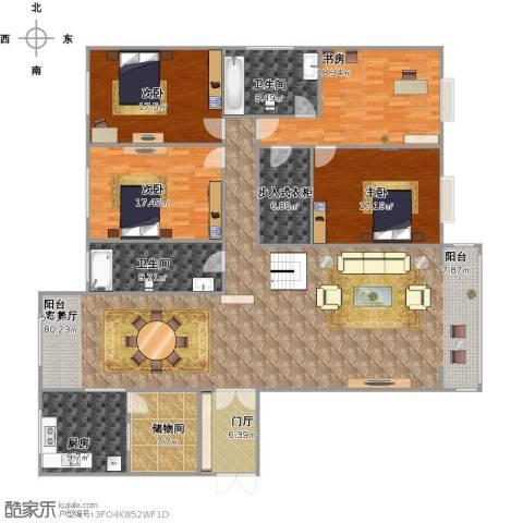 丽华甲第苑4室1厅2卫1厨264.00㎡户型图