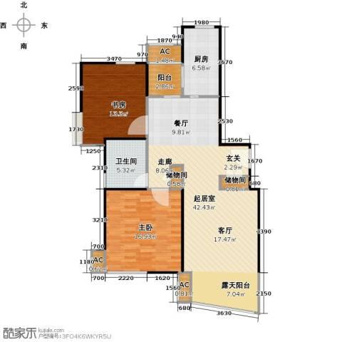 大唐盛世花园三期2室0厅1卫1厨100.00㎡户型图