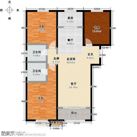金宇新天地3室0厅2卫1厨133.00㎡户型图
