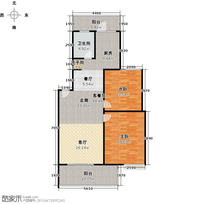 阳光里104.05㎡8#1单元3号房户型3室2厅2卫
