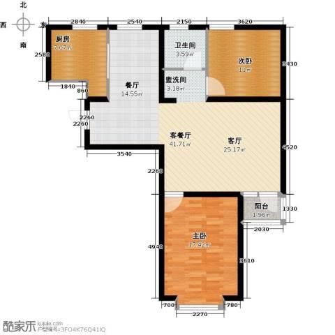 通用富馨佳苑2室1厅1卫1厨94.00㎡户型图