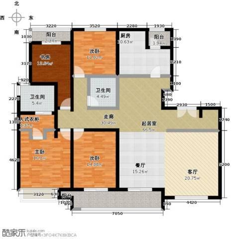 陆家嘴锦绣前城4室0厅2卫1厨180.00㎡户型图