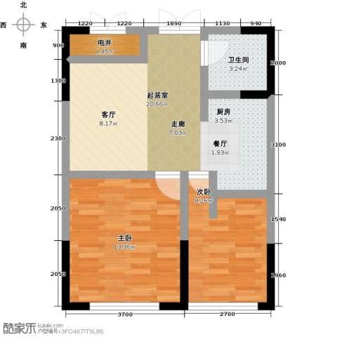 协众水岸风华2室0厅1卫0厨69.00㎡户型图