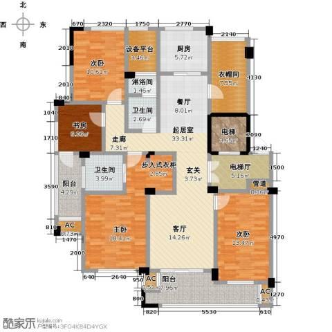 绿城玉兰花园4室0厅2卫1厨153.00㎡户型图