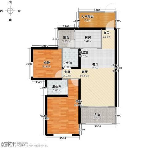 三江国际丽城C区.澜岸2室0厅2卫1厨113.00㎡户型图