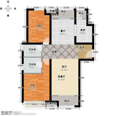 森茂华庭2室1厅2卫1厨123.00㎡户型图