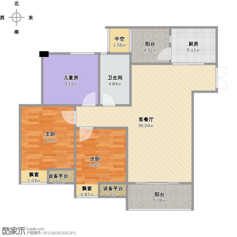 斌鑫江南时代B户型+改后户型图.jpg
