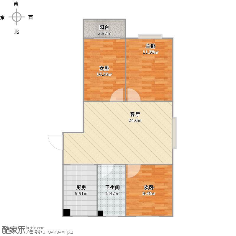 三室一厅两卧室朝阳