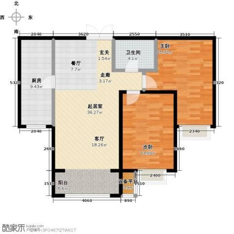 金宇新天地2室0厅1卫1厨106.00㎡户型图