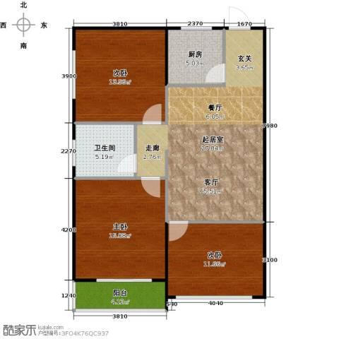 栖里凤台46#楼3室0厅1卫1厨89.00㎡户型图