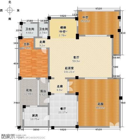 苏州阿卡迪亚1室0厅2卫1厨259.00㎡户型图