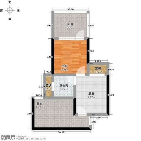 龙潭・温泉印象1室0厅1卫1厨61.00㎡户型图