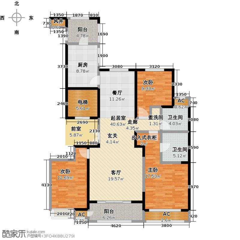 绿地国际花都139.55㎡三房两厅卫139.55平米LL