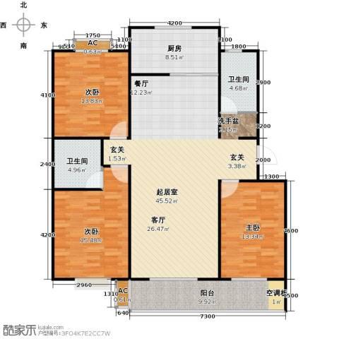 滨海花园3室0厅2卫1厨139.00㎡户型图
