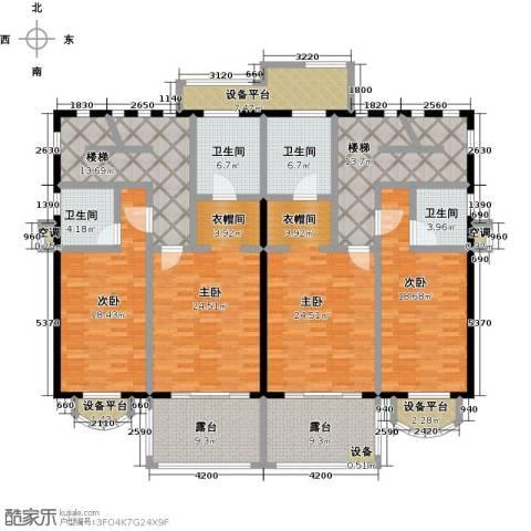咸宁碧桂园4室0厅4卫0厨213.00㎡户型图