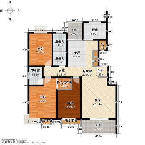四季花城3室0厅3卫1厨135.00㎡户型图