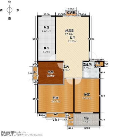滨海花园1室0厅1卫1厨97.00㎡户型图