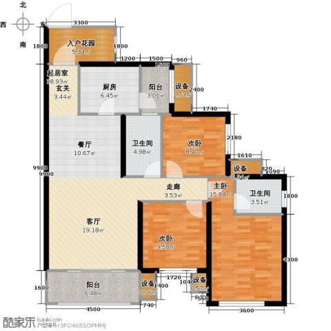 三江国际丽城C区.澜岸3室0厅2卫1厨145.00㎡户型图