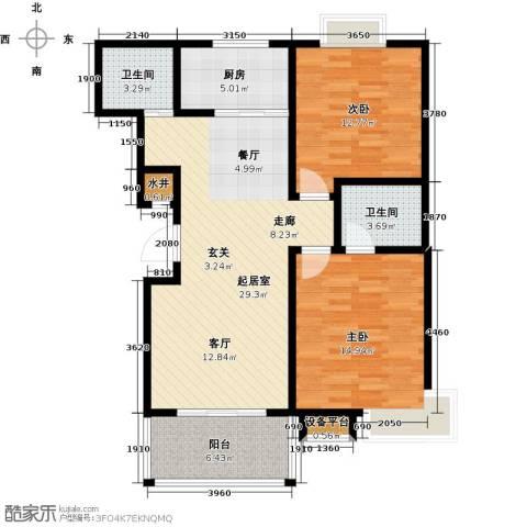 四季花城2室0厅2卫1厨87.00㎡户型图