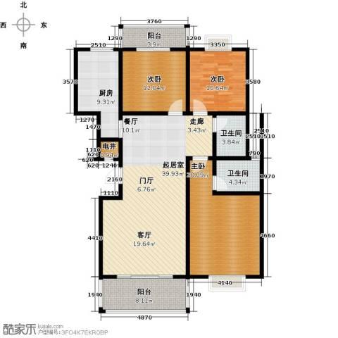 四季花城3室0厅2卫1厨127.00㎡户型图