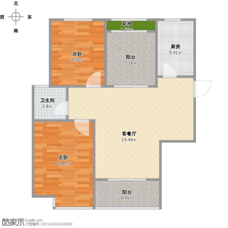 合肥水丽坊自在城三期14楼E+改后户型