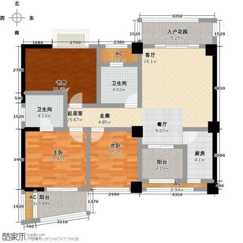 静海湾3室0厅2卫1厨131.00㎡户型图