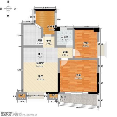 静海湾2室0厅1卫1厨102.00㎡户型图