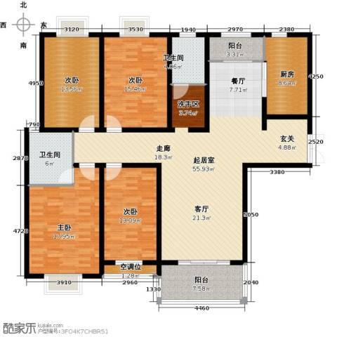 君廷湖畔4室0厅2卫1厨209.00㎡户型图