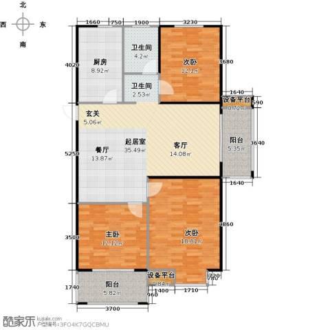 运河春天3室0厅1卫1厨112.00㎡户型图