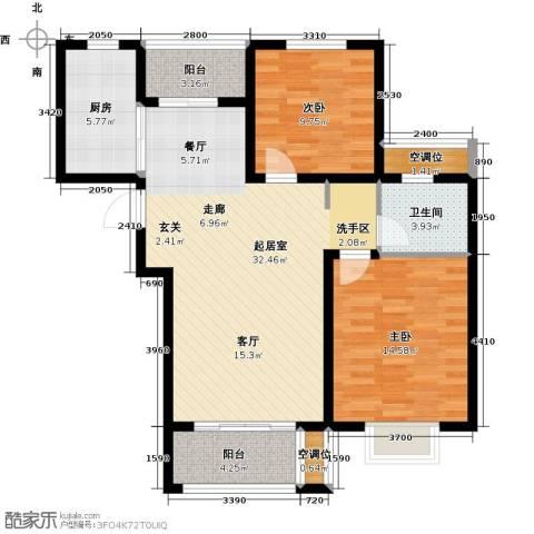 绿地高铁东城2室0厅1卫1厨88.00㎡户型图