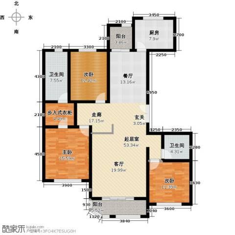 远洋海世纪3室0厅2卫1厨173.00㎡户型图