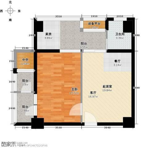 亚华桂竹花园1室0厅1卫0厨69.00㎡户型图