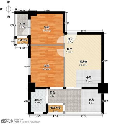 亚华桂竹花园2室0厅1卫0厨75.00㎡户型图
