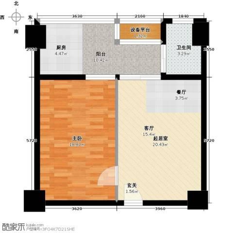 亚华桂竹花园1室0厅1卫0厨63.00㎡户型图