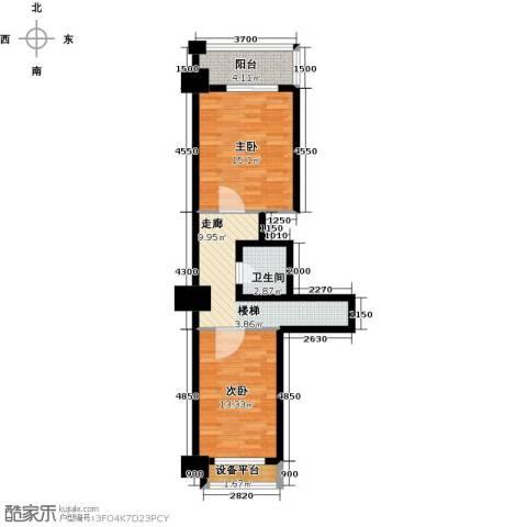 亚华桂竹花园2室0厅1卫0厨125.00㎡户型图