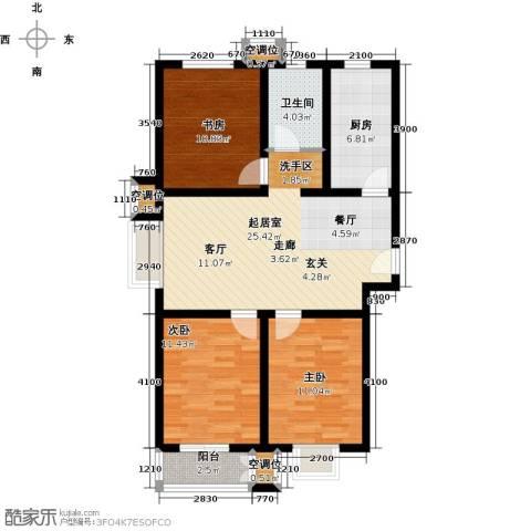 远洋海世纪3室0厅1卫1厨113.00㎡户型图