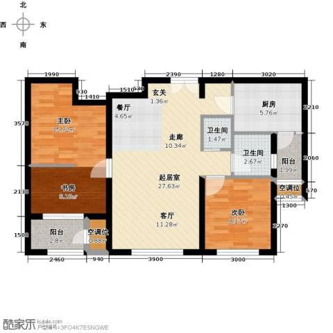 远洋海世纪2室0厅2卫1厨98.00㎡户型图