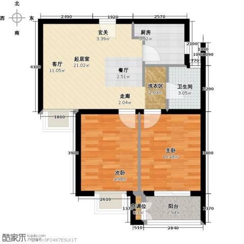 远洋海世纪2室0厅1卫1厨78.00㎡户型图