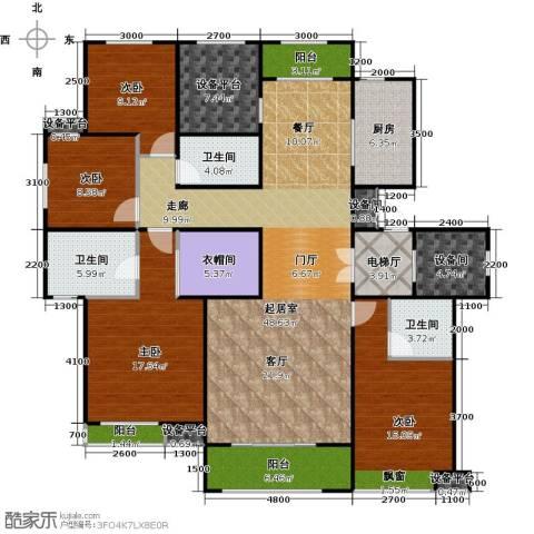 铂悦山4室0厅3卫1厨170.00㎡户型图