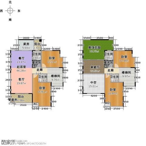 金印豪庭4卫1厨241.00㎡户型图