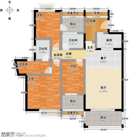 天乙海岸名都3室0厅2卫1厨179.00㎡户型图