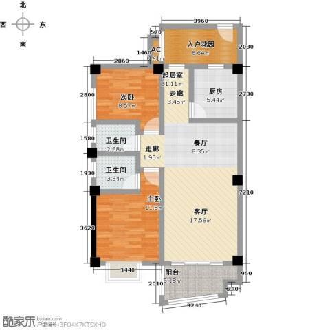静海湾2室0厅2卫1厨111.00㎡户型图