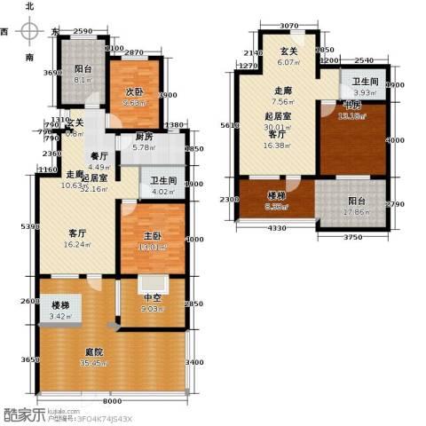 戴河香堤3室0厅2卫1厨258.00㎡户型图