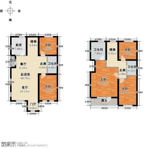 隆河谷一期5室0厅3卫1厨191.00㎡户型图
