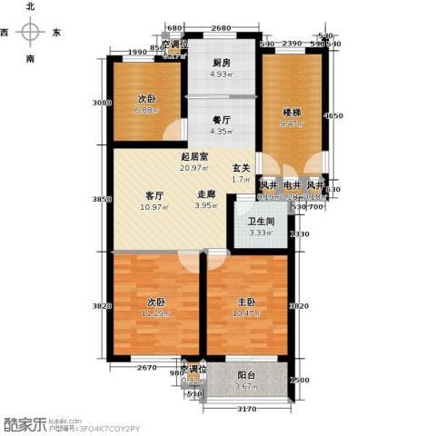 凤鸣郡3室0厅1卫1厨85.00㎡户型图