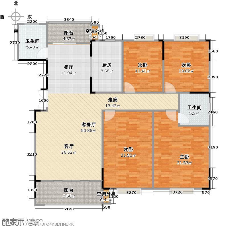 长沙欧洲城图为10D户型4室2厅2卫